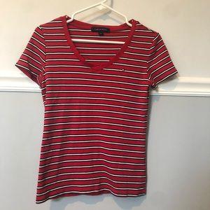 Striped Tommy Hilfiger V-Neck T-Shirt